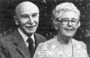 Dr. Ben Gullison with wife Evlyn, who first embarked together to India on their honeymoon.