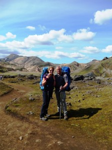 Here we are...ready for our seven-day, 90-something-kilometre trek across southern Iceland.
