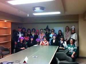 We were thrilled to have Kare and her mom with us for our Halloween staff potluck! Can you spot her in the crowd?