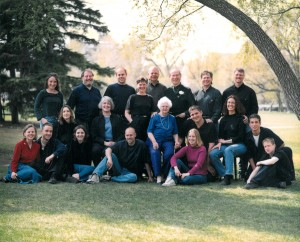 Art Jenkyns, Operation Eyesight's founder, can be see in this Jenkyns family photo, standing third from the right in the final ro