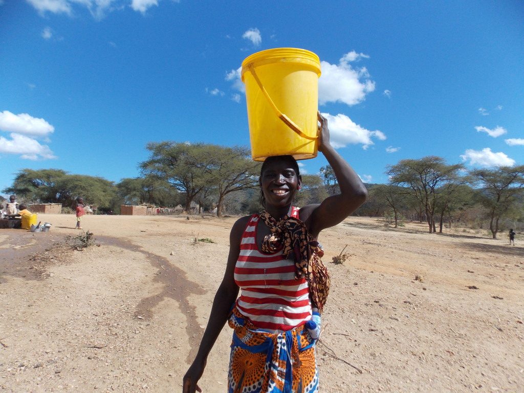 Fresh water brings smiles to all!