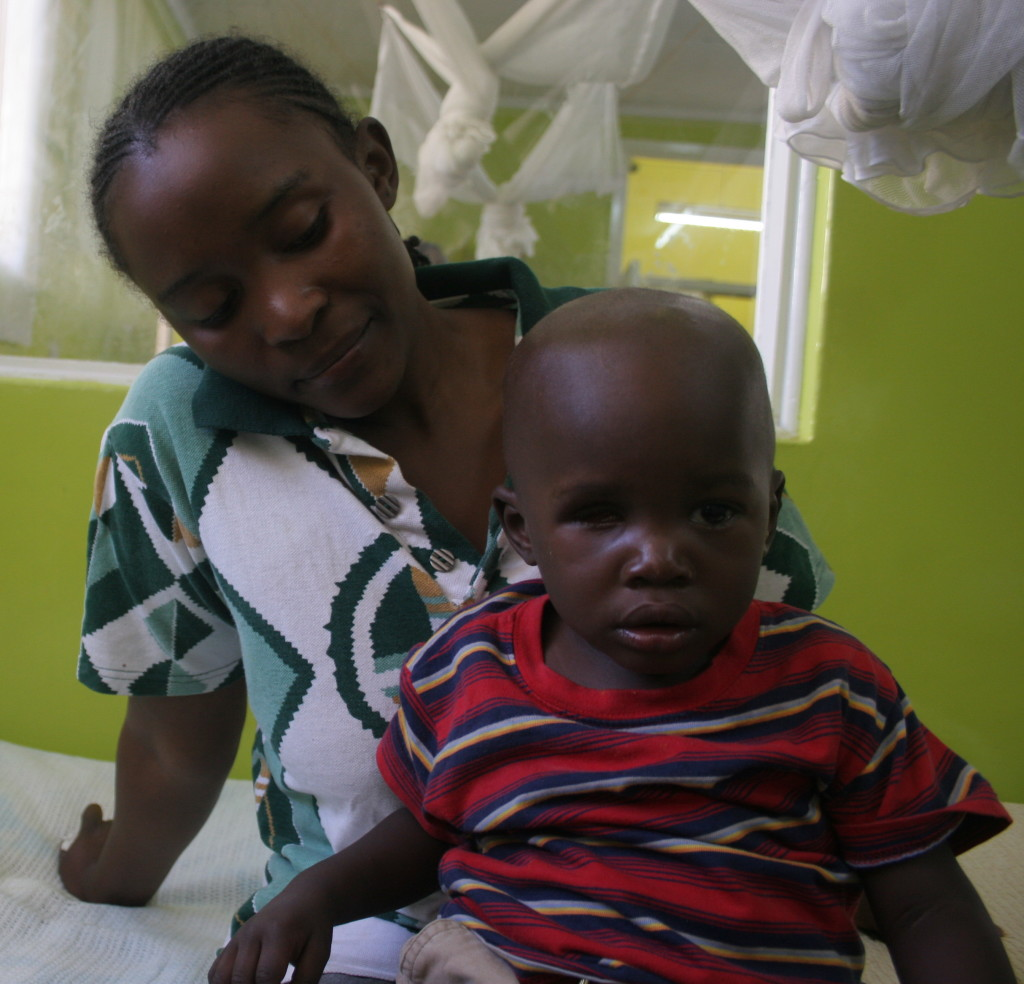 Xavier was 20 months old when he received treatment at Moi Teaching and Referral Hospital. He had his right eye removed due to cancer. Two weeks later, he received an artificial eye. Doctors are giving him medication to contain the cancer. Fortunately, the cancer had not spread outside the eye.