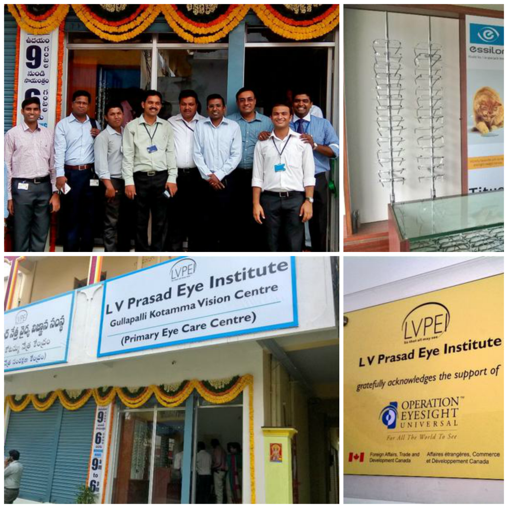 We proudly support LV Prasad Eye Institute's new vision centre in Vijayawada, India. Photos by @DrSantoshMoses.