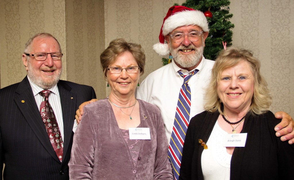 We were especially pleased to have three of Art Jenkyns' children, Tom (left), Linda and Arleigh (right), join us for the occasion. They posed for a quick photo with Executive Director Brian Foster (a.k.a. Santa Claus). Art founded Operation Eyesight in 1963 here in Calgary, and we're so grateful for the Jenkyns family's ongoing support!