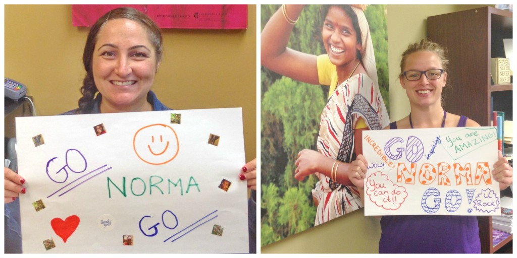 We're all rooting for Norma! You can show your support by using the hashtag #GoNorma on Facebook, Twitter or Instagram.