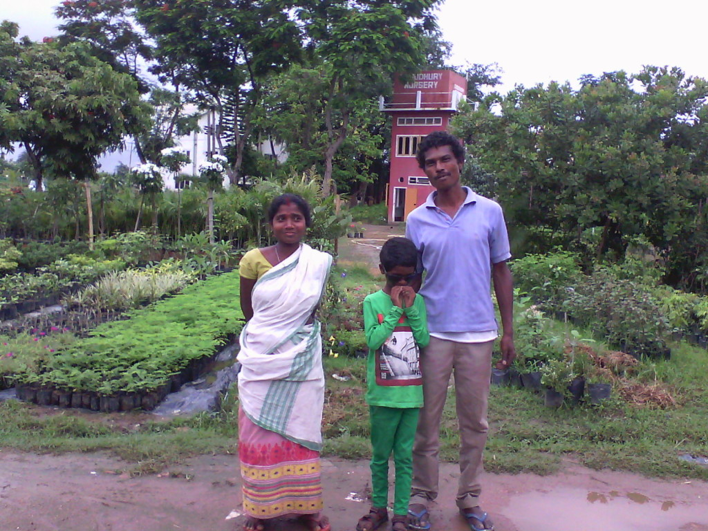 Paresh, his wife, and their youngest son, Malang.