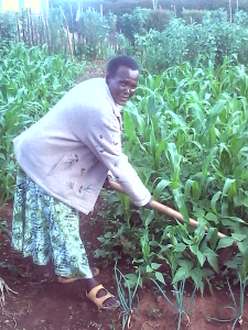 Thanks to Operation Eyesight's donors, Sote can tend to her crops again.