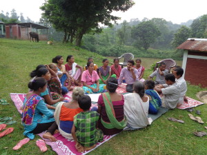 Consultations with villagers in Upper Tepesia. Our staff use focus groups, interviews, social and resource mapping, and other methods when consulting with villagers. This ensures that local people are consulted about projects meant to help them.