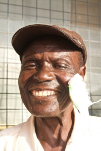 Like this man, James had cataract surgery so he knows just how precious eyesight can be. [Photo by John Welling]